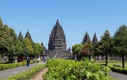Tempio di Prambanan vicino a Yogyakarta sull'isola Indonesia di Java fotografie stock
