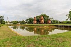 Tempio di Prasat Sikhoraphum o della Castle Rock Fotografia Stock