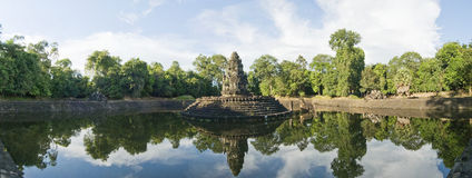 Tempio di Preah Neak Pean, Angkor Wat, Cambogia Immagini Stock Libere da Diritti