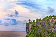 Tempio di Pura Uluwatu, Bali, Indonesia Fotografia Stock Libera da Diritti