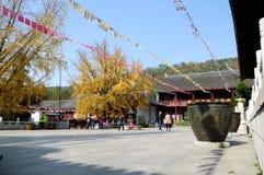Tempio di Qixia Immagine Stock