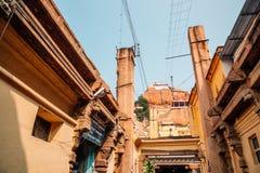 Tempio di Rockfort Thayumanaswami in Tiruchirappalli, India immagine stock libera da diritti