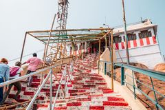 Tempio di Rockfort Thayumanaswami in Tiruchirappalli, India immagini stock