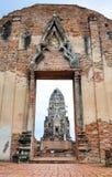 Tempio di rovina di Ayutthaya, Tailandia Immagini Stock Libere da Diritti