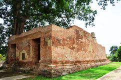 Tempio di rovina a Wat Khun Inthapramun della provincia Tailandia di Angthong Fotografie Stock
