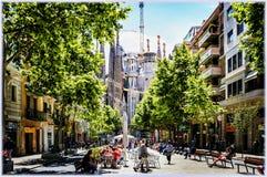 Tempio di Sagrada Familia a Barcellona, Spagna Immagini Stock