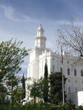 Tempio di San Giorgio LDS Fotografia Stock Libera da Diritti