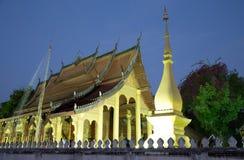 Tempio di Senesouk all'alba in Luang Prabang immagini stock