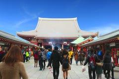 Tempio di Sensoji, Asakusa-Giappone 19 febbraio ' 16 Immagine Stock Libera da Diritti
