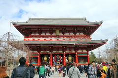 Tempio di Sensoji, Asakusa-Giappone 19 febbraio ' 16 Fotografia Stock