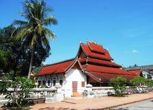 Tempio di Sensoukharam nella città di Luang Prabang a Loas Immagine Stock