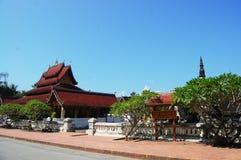 Tempio di Sensoukharam nella città di Luang Prabang a Loas Fotografia Stock Libera da Diritti