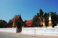 Tempio di Sensoukharam nella città di Luang Prabang a Loas Fotografia Stock
