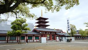 Tempio di Shitennoji, Osaka fotografia stock
