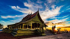 Tempio di Sirindhorn Wararam Phu Prao Immagini Stock Libere da Diritti