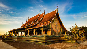 Tempio di Sirindhorn Wararam Phu Prao Immagine Stock