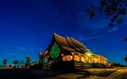 Tempio di Sirindhorn Wararam Phu Prao Fotografia Stock Libera da Diritti