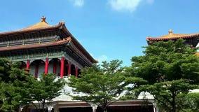 Tempio di stile di cinese tradizionale in Nonthaburi stock footage