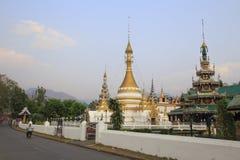 Tempio di stile del Myanmar in Tailandia Fotografia Stock