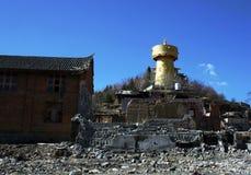 Tempio di stile del Tibet in Shangrila, Cina Immagini Stock