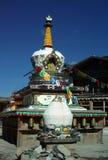 Tempio di stile del Tibet in Shangrila, Cina Immagini Stock Libere da Diritti