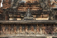 Tempio di Sukhothai Fotografie Stock Libere da Diritti