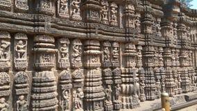 Tempio di Sun di Konark - bellezza architettonica dell'India fotografia stock libera da diritti