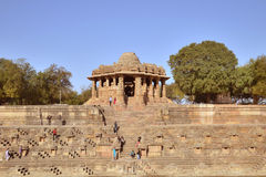 Tempio di Sun di Modhera, Gujarat immagini stock libere da diritti