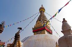 Tempio di Swayambhunath Fotografia Stock Libera da Diritti