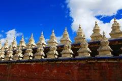 Tempio di Tagong, un tempio famoso di buddismo tibetano di Sakya Fotografie Stock