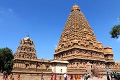 Tempio di Thanjavur Brihadeeswarar Fotografia Stock