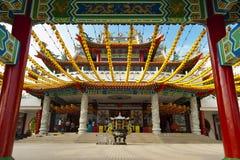 Tempio di Thean Hou, Kuala Lumpur The Thean Hou Fotografia Stock Libera da Diritti