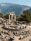 Tempio di Tholos di Delfi Immagini Stock