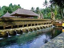 Tempio di Tirta Empul, il tempio indù in Bali, Indonesia fotografie stock