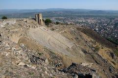 Tempio di Traiano all'acropoli fotografie stock libere da diritti