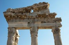 Tempio di Traiano a Pergamos fotografia stock libera da diritti