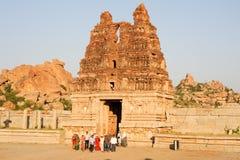 Tempio di Vittala a Hampi Immagine Stock