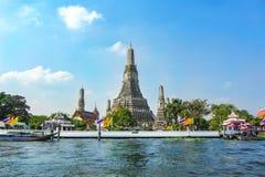 Tempio di Wat Arun a Bangkok Tailandia Fotografie Stock Libere da Diritti