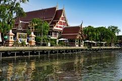 Tempio di Wat Bangpeng tai a Bangkok Tailandia Fotografia Stock Libera da Diritti