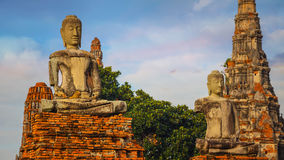 Tempio di Wat Chaiwatthanaram in Ayuthaya, Tailandia Immagini Stock Libere da Diritti