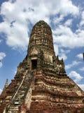 Tempio di Wat Chaiwatthanaram, parco storico, Ayutthaya, Tailandia Fotografia Stock Libera da Diritti