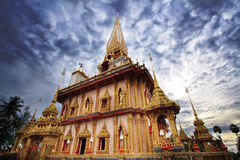 Tempio di Wat Chalong a Phuket Fotografie Stock