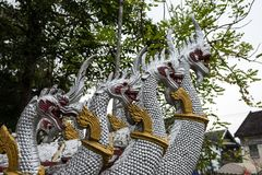 Tempio di Wat Hua Xiang in Luang Prabang, Laos fotografia stock libera da diritti