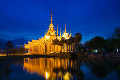 Tempio di Wat Luang Phor Toh Sikhio in nakhonratsima Tailandia Immagine Stock