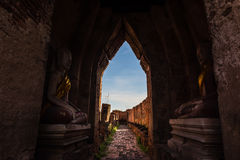TEMPIO DI WAT NAKHON LUANG Ayutthaya, Tailandia Fotografia Stock