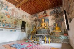 Tempio di Wat Pa Huak in Luang Prabang Fotografie Stock Libere da Diritti