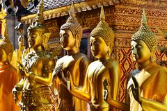 Tempio di Wat Phra That Doi Suthep in Chiang Mai Province, Tailandia fotografie stock libere da diritti