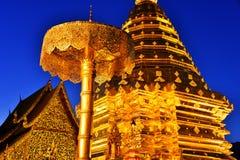 Tempio di Wat Phra That Doi Suthep in Chiang Mai Province, Tailandia Fotografia Stock Libera da Diritti