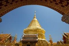 Tempio di Wat Phra That Doi Suthep, Chiang Mai, Tailandia Fotografia Stock Libera da Diritti