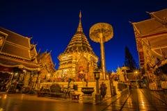 Tempio di Wat Phra That Doi Suthep, Chiang Mai, Tailandia Fotografia Stock